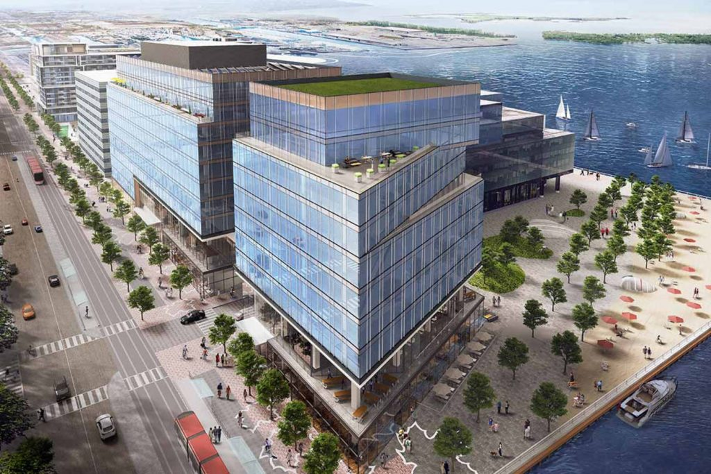 enants of the new Waterfront Innovation Centre will have immediate access to Alphabet Inc.'s 'neighbourhood of the future.' Rendering via Menkes Developments / CNW Newswire