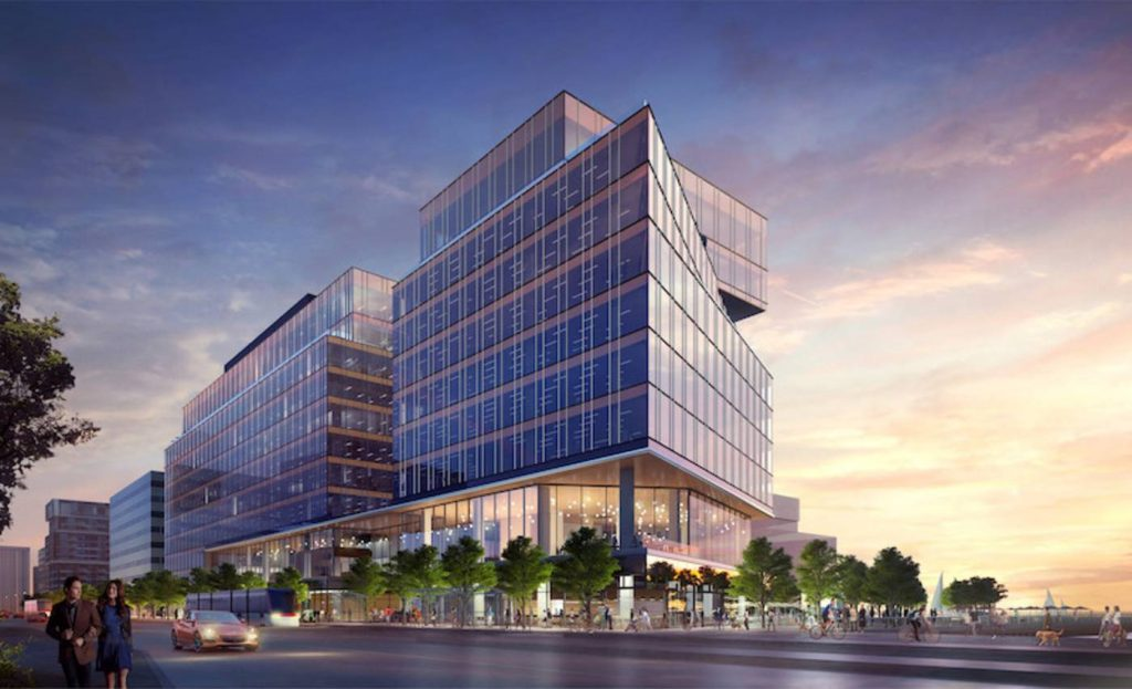 Tenants of the new Waterfront Innovation Centre will have immediate access to Alphabet Inc.'s 'neighbourhood of the future.' Rendering via Menkes Developments / CNW Newswire.