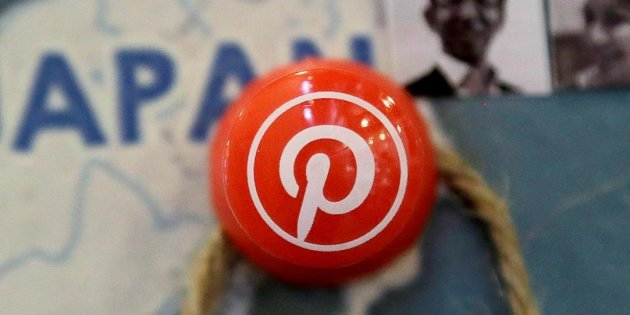 THE CANADIAN PRESS/AP, JEFF CHIU A pin signifies the Pinterest office in Japan on a map at the Pinterest office in San Francisco, April 1, 2015.